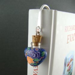 zakładka,flakon,butelka,korek - Zakładki do książek - Akcesoria