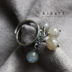 srebro,szary,labradoryt,pierścionek,oksydowany - Pierścionki - Biżuteria