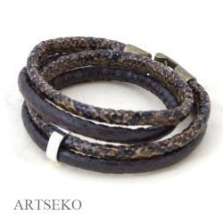 Bransoletka skóra węża - Bransoletki - Biżuteria