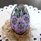 Inne ręcznie malowana kwiatowa pisanka