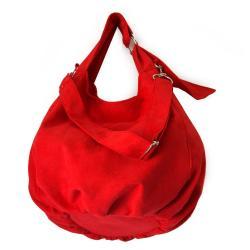 torba,czerwony,alcantara,na skos,na ramię,autorska - Na ramię - Torebki