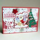 Kartki okolicznościowe miś,życzenia,świąta,choinka,gwiazdka,Mikołaj