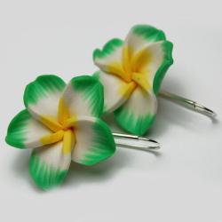 kwiaty fimo kolczyki - Kolczyki - Biżuteria
