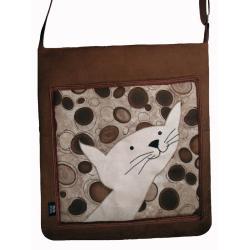 torba,pojemna,prezent,unikalna,kot,brąz - Na ramię - Torebki