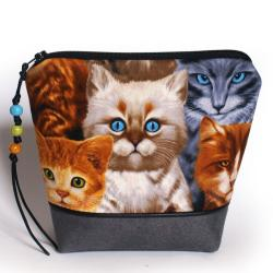 kosmetyczka,koty,alcantara,prezent,saszetka - Kosmetyczki - Dodatki