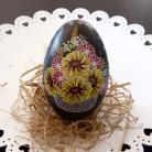 Inne kwiatowy koszyczek pisanka ręcznie malowana