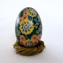 wiosenne kwiaty malowane ręcznie - Świeczniki - Wyposażenie wnętrz