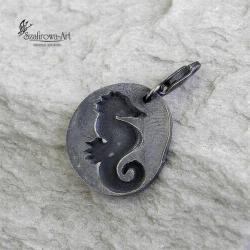 charms,srebro,konik morski - Charms - Biżuteria