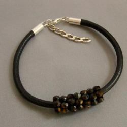 czarna,stylowa - Bransoletki - Biżuteria