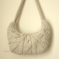 torebka,warkocz,na drutach, - Na ramię - Torebki