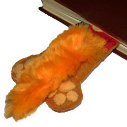 zakładka,książka,prezent,kot,ogon,łapy - Zakładki do książek - Akcesoria