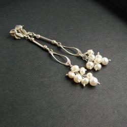 erełkowe,srebrne,urocze - Kolczyki - Biżuteria