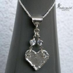 naszyjnik,delikatny,intrygujący,kuszący,serce - Naszyjniki - Biżuteria