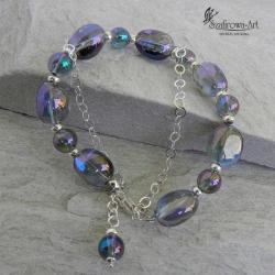 bransoleta,elegancka,wyrazista,kwarc tęczowy - Bransoletki - Biżuteria