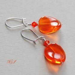 szklane,błyszczące,przykuwające uwagę - Kolczyki - Biżuteria
