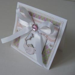 upominek,życzenia,dziewczynka,kartka - Kartki okolicznościowe - Akcesoria