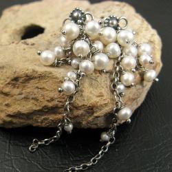 grona,lśniące,perłowe - Kolczyki - Biżuteria