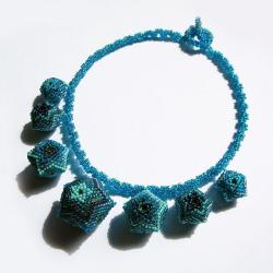 beading,lato,letni,beaded beads,komplet - Naszyjniki - Biżuteria