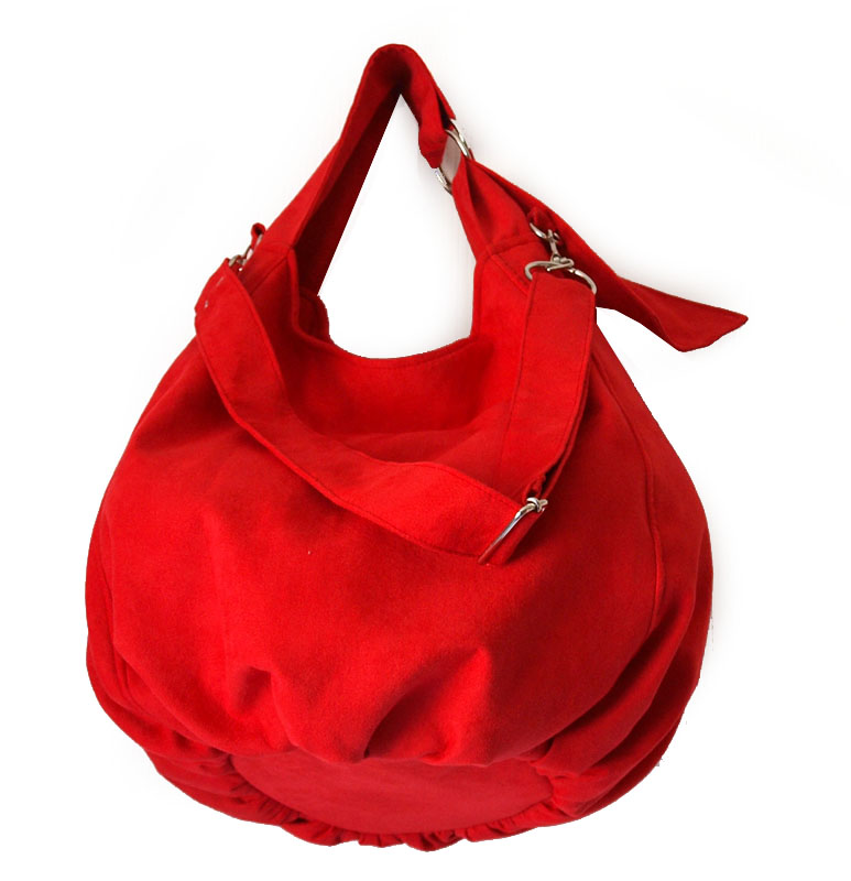 Bardzo mocna czerwień! Super torebka na ramię | Torebki