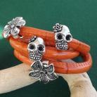 Bransoletki bransoletka,pomarańczowa,czaszka,kwiat