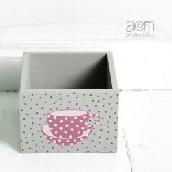 anamarko,pudełko,filiżanka - Pudełka - Wyposażenie wnętrz