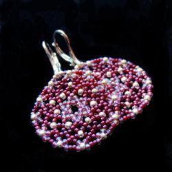 koronkowe,medaliony,Extrano - Kolczyki - Biżuteria