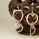 Kolczyki kolczyki,srebro,miedź,biżuteria damska