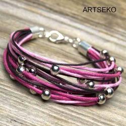 Modna bransoletka sznurkowa - Bransoletki - Biżuteria
