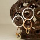 Kolczyki kolczyki,srebro,miedź,mosiądz,biżuteria damska